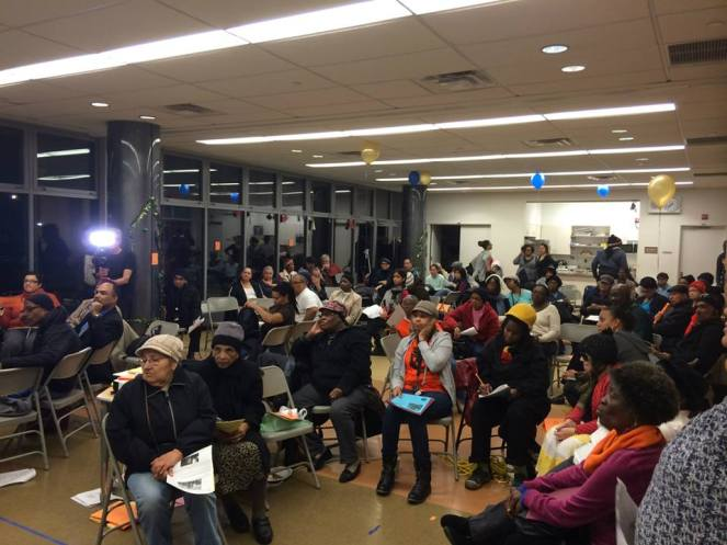 Bronx Tenants at a CASA general meeting learn about their rights.