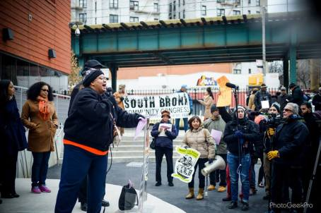 Tenants at the Bronx Renters' March, December 2014.