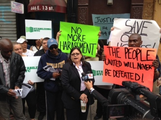 Councilwoman Rosie Mendez of Manhattan District 2 speaks in support of 444 E 13th St tenants