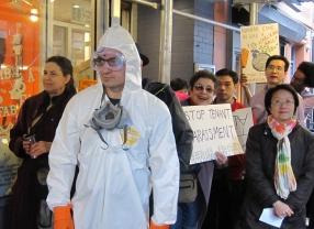 Councilwoman Margaret Chin of Manhattan District 1 joins tenants in demanding justice.