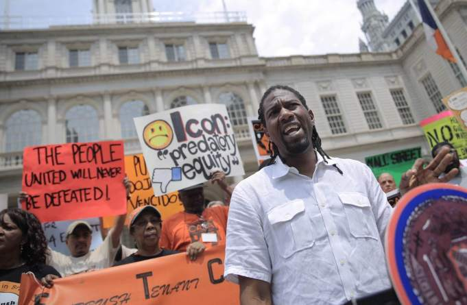 Council Member Jumaane Williams speaks out against predatory equity at our June 11 press conference