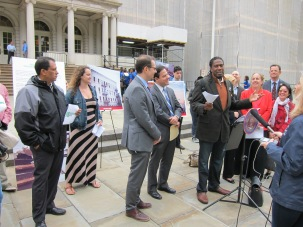 Councilman Williams of Brooklyn District 45 speaks in support of the Coalition Against Predatory Equity
