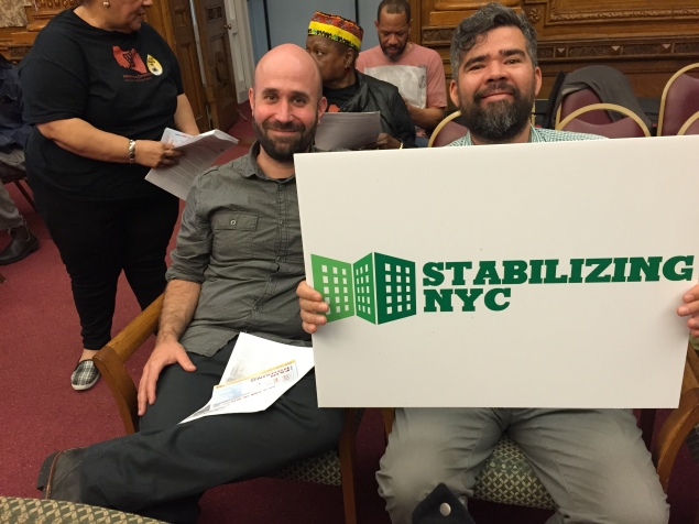 Stabilizing NYC members support the Borough President's hearing