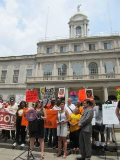 Kerri White of UHAB announces Stabilizing NYC's definition of predatory equity and target landlords