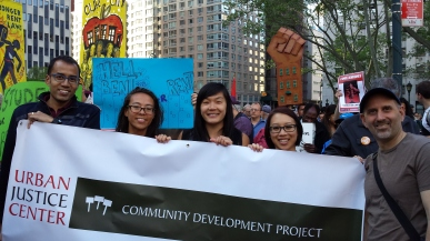 Community Development Project staff at the Rally to Save a Million Homes on May 14th.