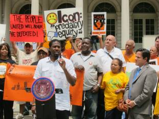 Council Member Williams of Brooklyn District 45 speaks at the June 11 press conference